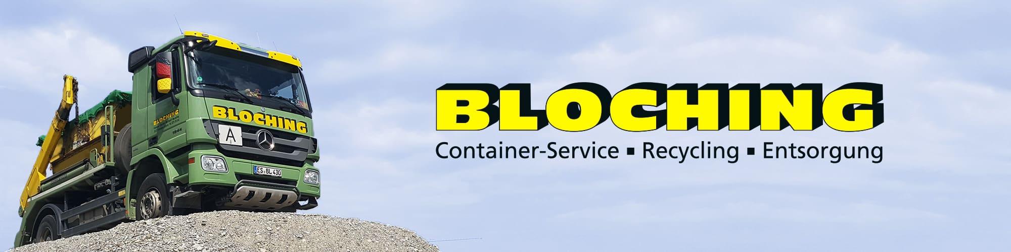 Bloching, Containerdienst in Stuttgart und Umgebung
