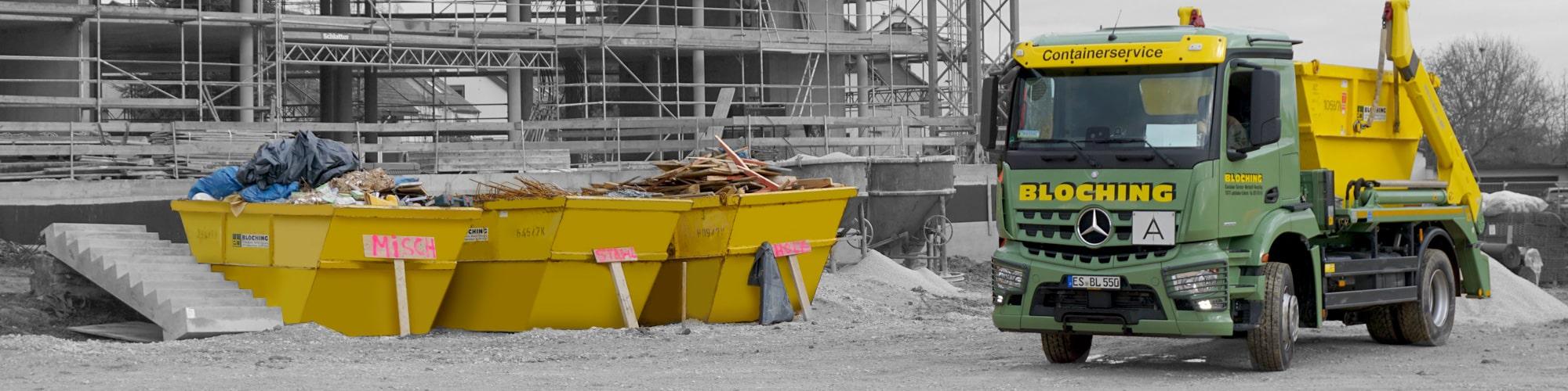 Entsorgung und Recycling verschiedener Abfälle - Bloching