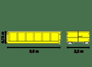 Abrollcontainer 10 m³ offen - Containerdienst Bloching