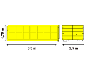 Abrollcontainer 22 m³ offen - Containerservice Bloching