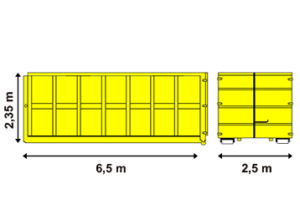 Abrollcontainer 36 m³ offen - Container bei Bloching mieten