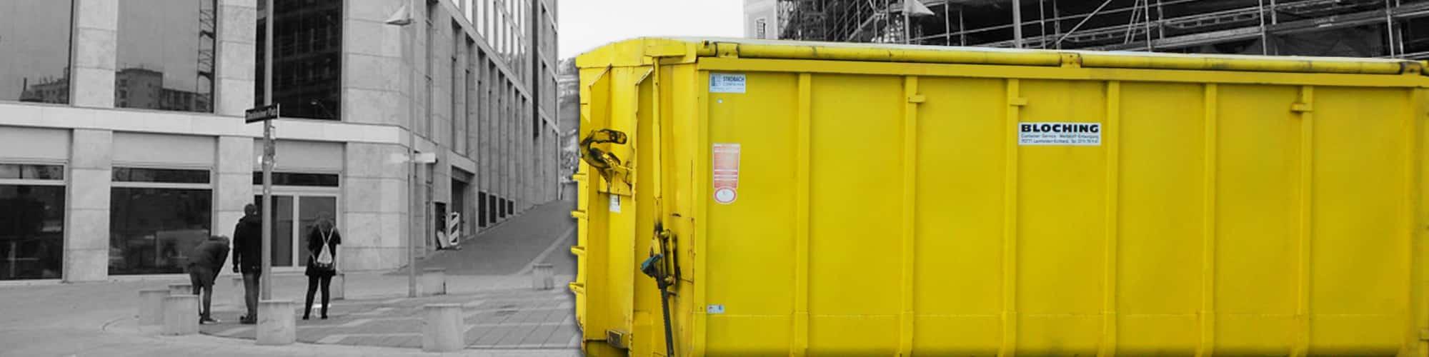 Abrollcontainer ab 10 m³ mieten - BLOCHING - Ihr Containerservice für den Großraum Stuttgart