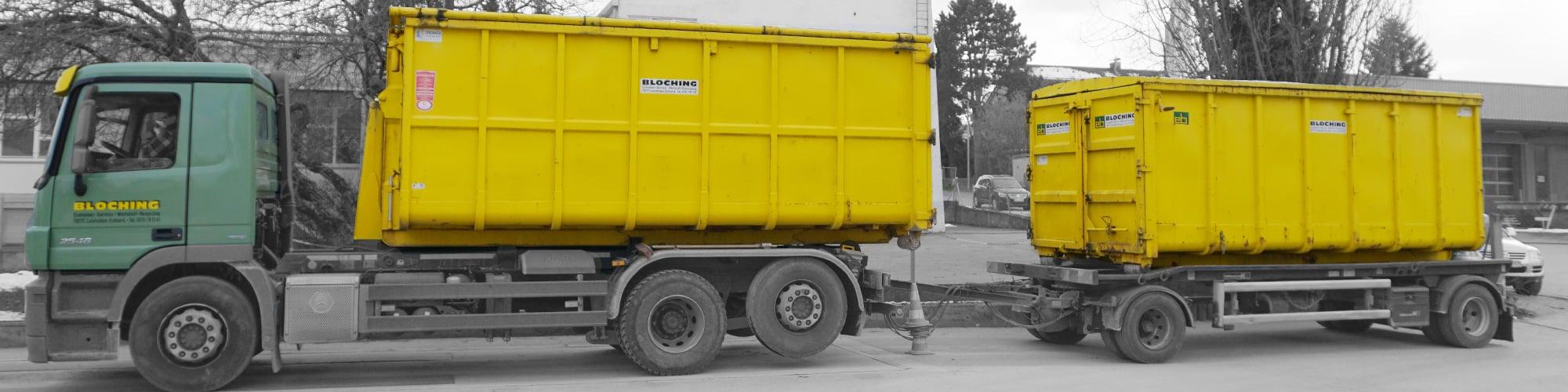 Abrollkipper mit Abrollcontainer (10 m³ bis 36 m³) - zulässiges Gesamtgewicht bis 26 Tonnen