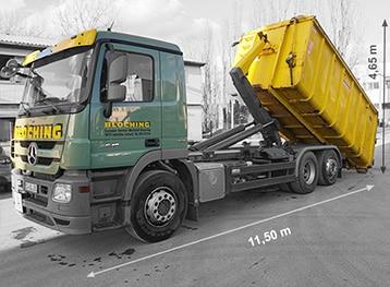 Abrollkipper mit Abrollcontainer ab 10 m³ bis 36 m³