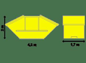 Absetzcontainer 10 m³ mit Deckel mieten
