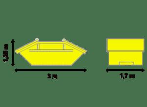 Absetzcontainer 5 m³ mit Deckel - Container bei Bloching mieten