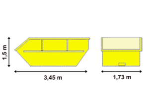 Absetzcontainer 7 m³ offen - Bloching Containerdienst
