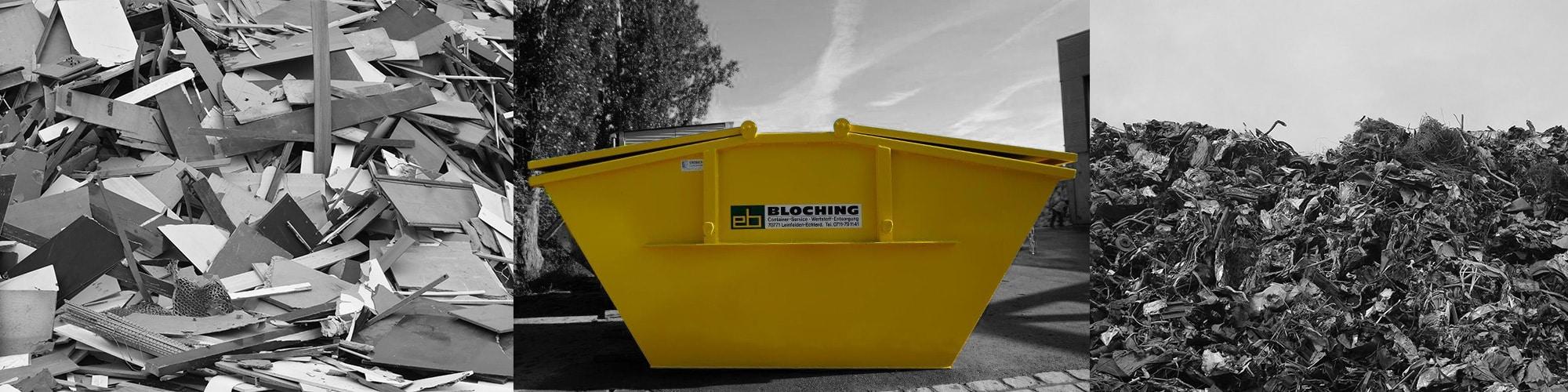 Container für Entsorgung und Recycling von Bloching