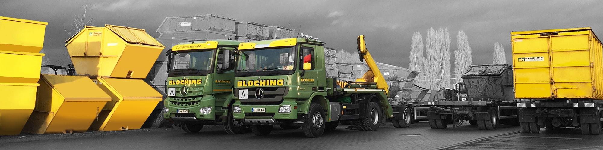 Container mieten - Containerfahrzeuge von Bloching
